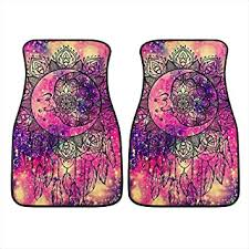 INSTANTARTS 2 Piece Boho Moon <b>Dream Catcher</b> Printed Durable ...