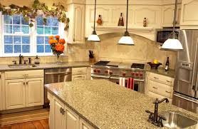 dishy kitchen counter decorating ideas: delectable glossy countertop decor by lovable small pendant lighting ideas also terrific white wood cabinet design