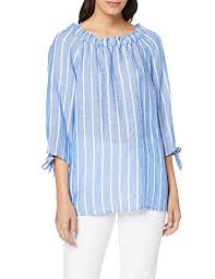 <b>Betty Barclay Women's</b> 6059/2580 Blouse, Multicolour (Blue/White ...