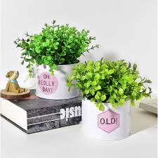 Artificial Green <b>Grass</b> Plant Plastic Fake <b>Flowers Simulation</b> Leaves ...