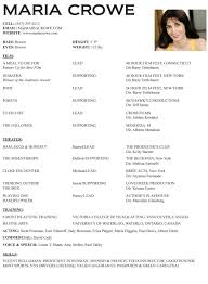 actor resume template getessay biz actor resume examples in actor resume