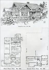 Two story Tudor Revival House Plan   Henry Wilson   The       The Bungalow Book   No