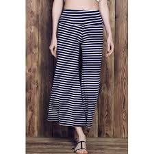 RoseGal <b>Stripe Wide Leg Yoga</b> Pants PURPLISH BLUE Style ...