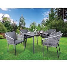Croft Grey Mobel <b>5 Piece Garden</b> Furniture Set - Buy Online at QD ...