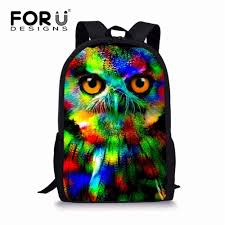 <b>FORUDESIGNS</b> Black Cat School Bags for Girls <b>3D</b> Animals Pug ...