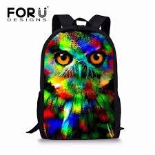 <b>FORUDESIGNS</b> Black Cat <b>School</b> Bags for <b>Girls</b> 3D Animals Pug ...