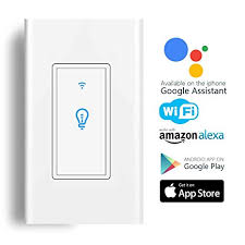 zemismart alexa echo google home voice control switch no need battery wireless remote suit for halogen bulb ceiling fan