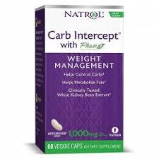 Блокатор углеводов NATROL <b>Carb Intercept</b> with <b>Phase 2</b> - 60 ...