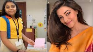 Sushmita Sen left teary-eyed after listening to <b>her 10</b>-year-old ...