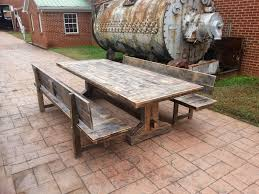 Dining Room Tables Reclaimed Wood Rustic Wood Picnic Table Sugarlips