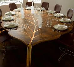 1 amazing leaf shaped dining table interior design ideas amazing interior design