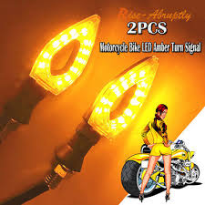 <b>2PCS Motorcycle Bike</b> LED Amber <b>Turn Signal</b> Blinker Lamp ...