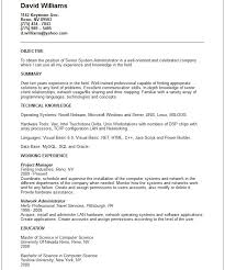 sample resume for system administrator template kronos systems administrator resume
