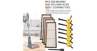 <b>Vacuum Cleaner</b> Parts <b>6PCS</b> Side Brushes 4PCS <b>HEPA Filter</b> and 1 ...
