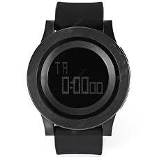 SKMEI 1142 Men Sport LED Digital Watch Black Minimalist Watches ...