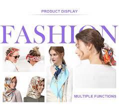 <b>2019</b> New Fashion Print <b>Big Square</b> Scarf 90cm Lady's 100 ...