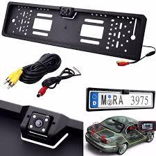 New Waterproof Shockproof <b>170</b>° 4 LED <b>European Car</b> License ...