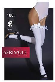 Купить <b>плотные белые чулки с</b> атласными бантами Le Frivole ...