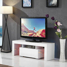 White High Gloss <b>TV</b> Stands & Entertainment Units for sale | eBay