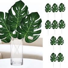 <b>10pcs Artificial</b> Tropical <b>Palm</b> Leaves Imitation <b>Plant</b> for Hawaiian ...