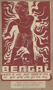 timeline of major famines in during british rule a poster envisioning the future of bengal after the bengal famine of 1943
