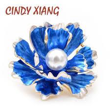 US $1.80 40% Off | <b>CINDY XIANG 6 Colors</b> Choose Enamel Peony ...