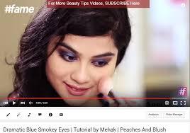 dramatic blue smokey eye tutorial for indian skin