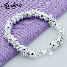 <b>New Arrival 925 Silver</b> Color Charm Bracelets Fine Jewelry Cuff ...