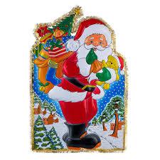<b>Панно</b> декоративное новогоднее <b>Дед мороз</b> с мишурой - <b>Bondibon</b>