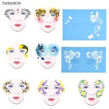 <b>7 Styles</b> Mix Reusable Face <b>Paint</b> & Airbrush Glitter Tattoo Stencil ...