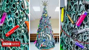 The <b>Christmas</b> tree made of <b>knives</b>, bullets and cigarette lighters ...