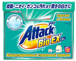 Стиральный <b>порошок Attack</b> Bio EX — купить по выгодной цене ...