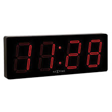 Nextime <b>Big D</b> Black <b>Led</b> Wall Clock