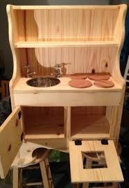 childs wooden play kitchen