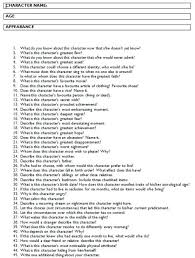 cas strong character and character sheet on pinterest a good list of questions to get to know your characters better character development