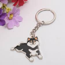 shoe keyring Cute <b>Shiba Inu Pattern</b> Key Ring Doge Key Chain ...