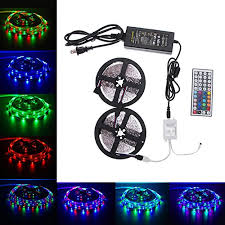 <b>10M</b> 3528 <b>RGB</b> SMD 600 LED <b>Waterproof</b> 12V Light Strip 44Key IR ...
