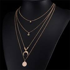 New <b>Fashion</b> Long Link Chain Multi-layer Necklace Party <b>Jewelry</b> ...