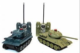<b>Радиоуправляемый танковый бой Huan</b> Qi Т34 и Tiger масштаб 1 ...