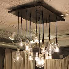 industrial chandelier edison bulb industrial lighting uncommongoods man cave wet bar lighting bar lighting ideas
