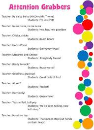 ideas about classroom attention grabbers on pinterest    classroom attention grabbers     for those days when you just don    t know