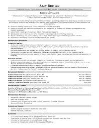 online tutoring resume for elementary teachers s teacher sample resume resume sle for the teacher preschool