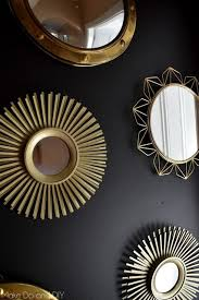 a black and gold wall of mirrors to add drama to the entry share your craft pinterest added drama mirrored bedroom furniture