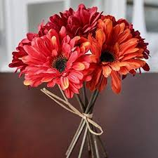 """Inspired By Nature 9.25"""" Mixed Red and <b>Orange Gerbera</b> Daisy Silk ..."""