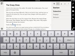 essay app beautiful rich text editing on ipad techinch if the fonts feel too small for you just tap the a button under the printer to choose from three font sizes the highlighted a shows the current size