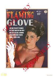 edge comix <b>Flaming Glove</b> – TTSTT A3 Retro Art Print - OWNAINDI