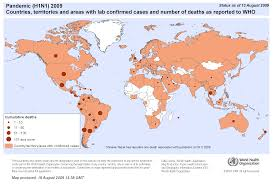 the hn swine flu pandemic manipulating the data to justify a map of affected countries and deaths as of 13 2009 png 313kb