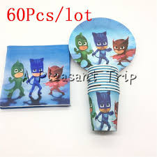 <b>60pcs</b>/<b>lot</b> Cartoon Mask man supplies paper plate + paper cups+ ...