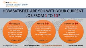 lohbus search group linkedin how satisfied are you your current job from 1 to 10