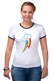 Футболка Рингер Rainbow Dash Cutie Mark <b>T</b>-<b>Shirt</b> #396935 ...